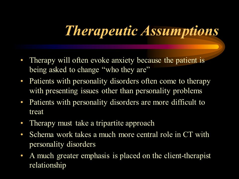 Therapeutic Assumptions