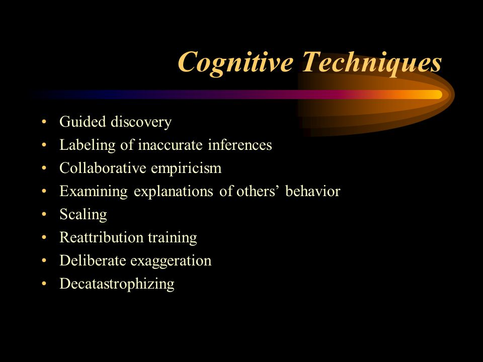 Cognitive Techniques Guided discovery