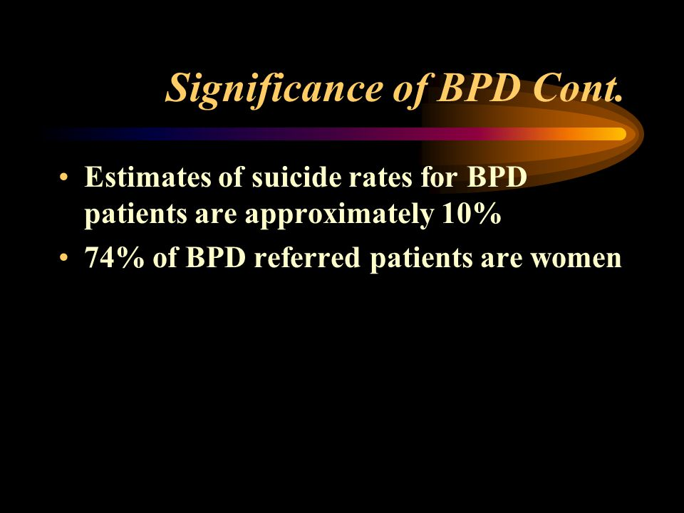 Significance of BPD Cont.