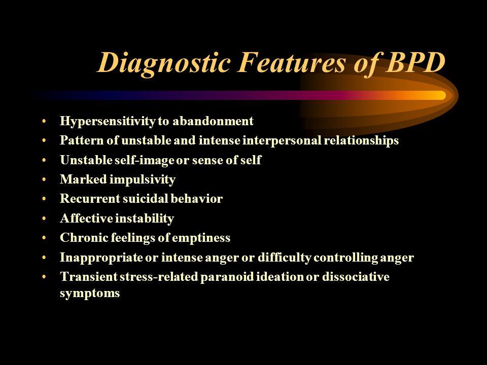 Diagnostic Features of BPD