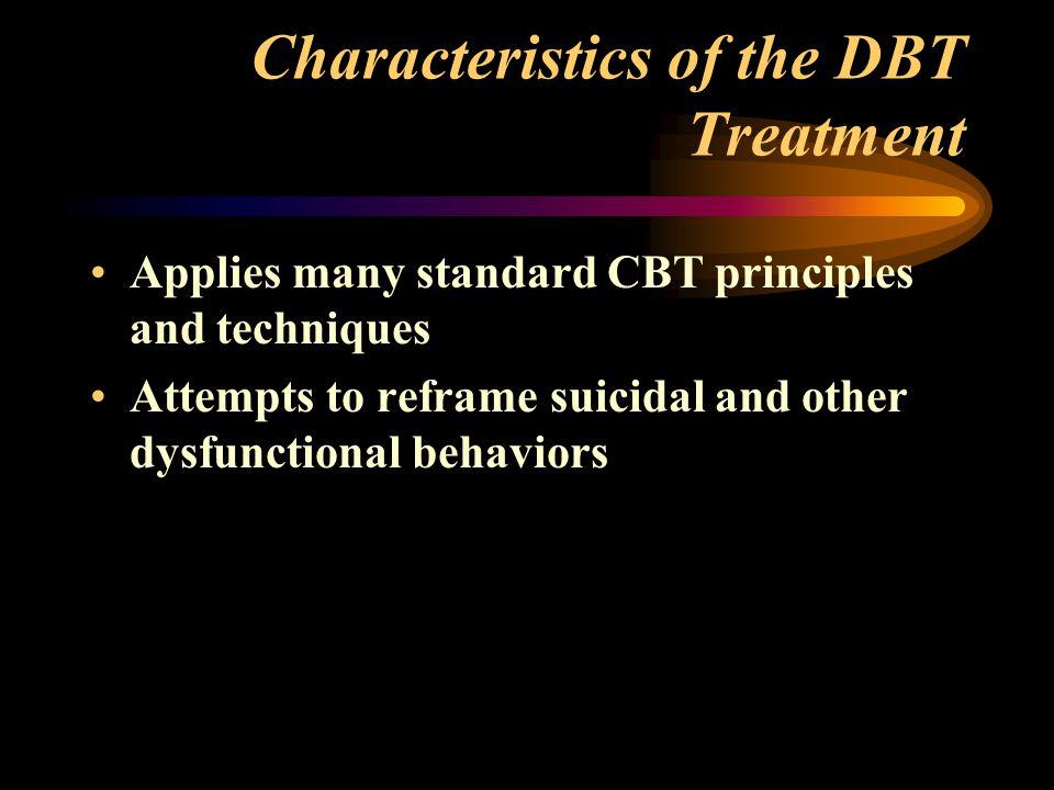 Characteristics of the DBT Treatment
