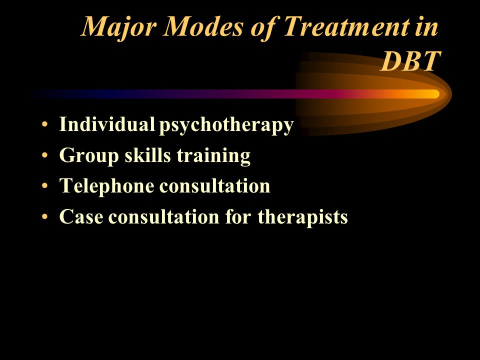 Major Modes of Treatment in DBT