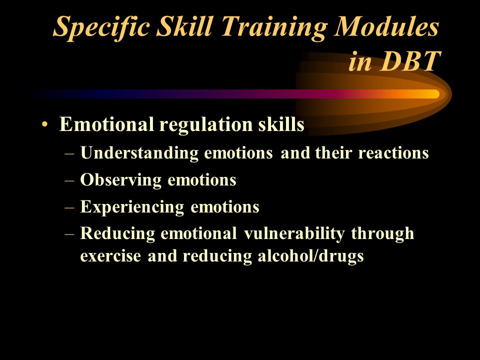 Specific Skill Training Modules in DBT