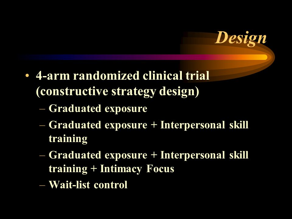 Design 4-arm randomized clinical trial (constructive strategy design)