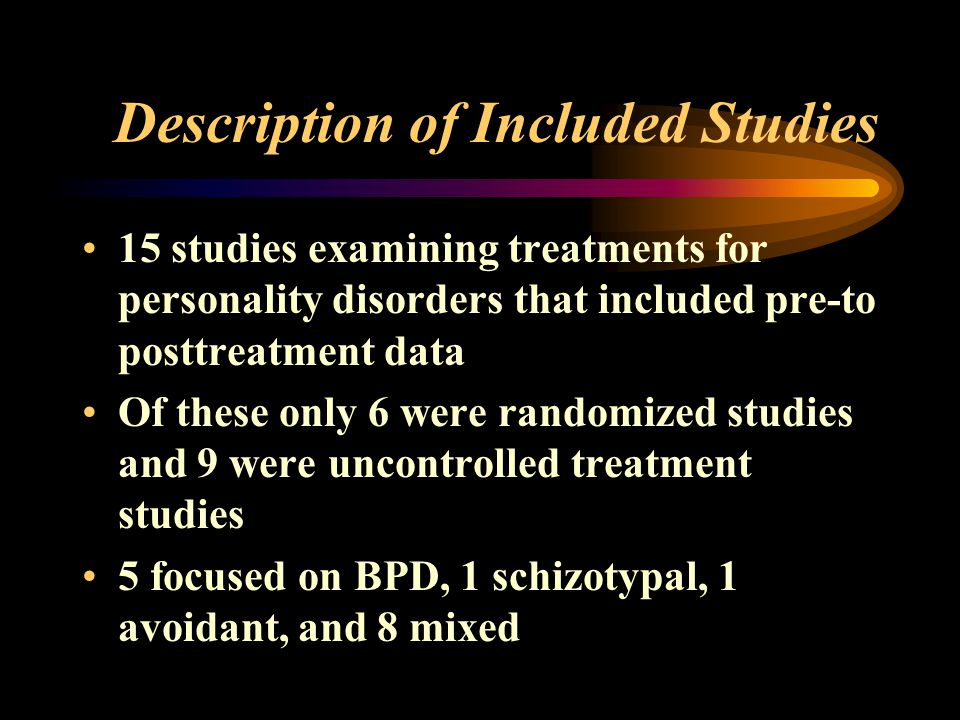 Description of Included Studies