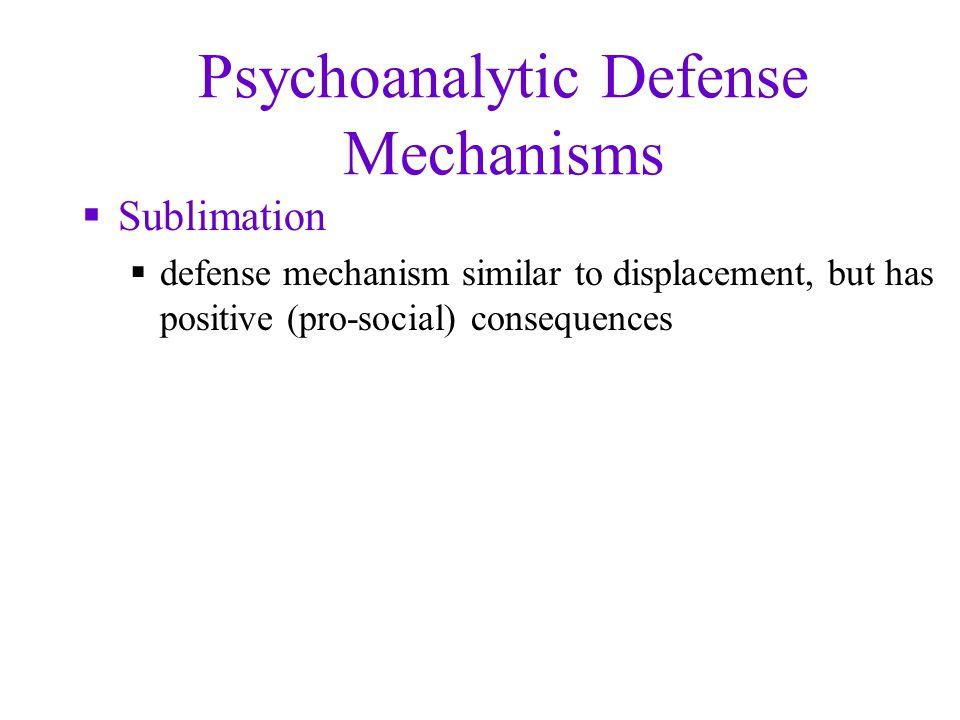 Psychoanalytic Defense Mechanisms
