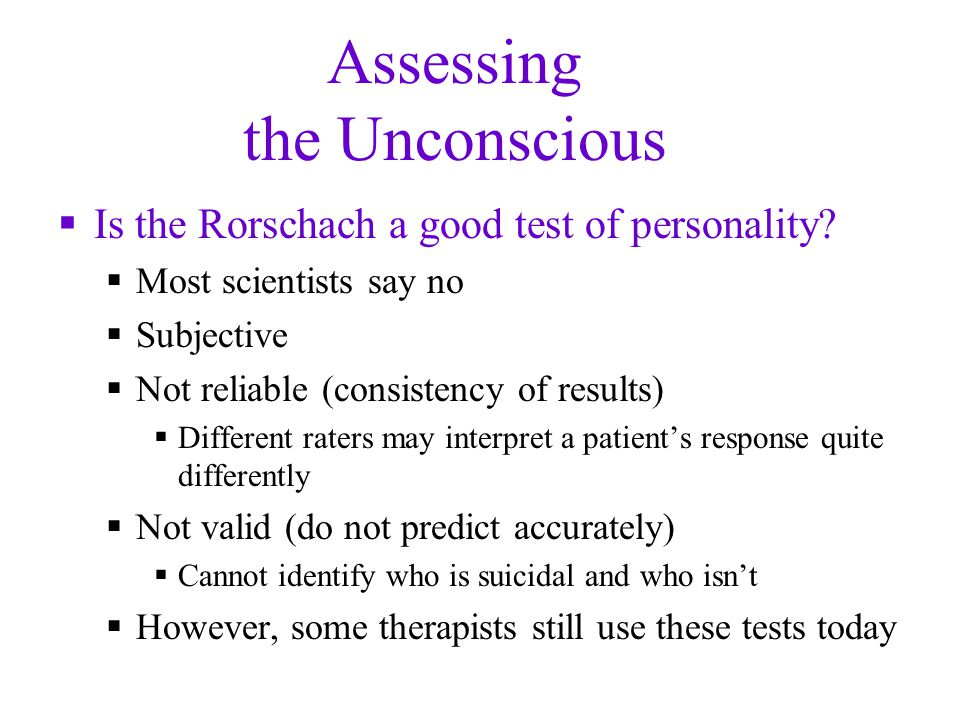 Assessing the Unconscious