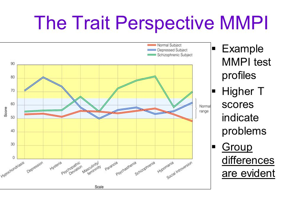 The Trait Perspective MMPI