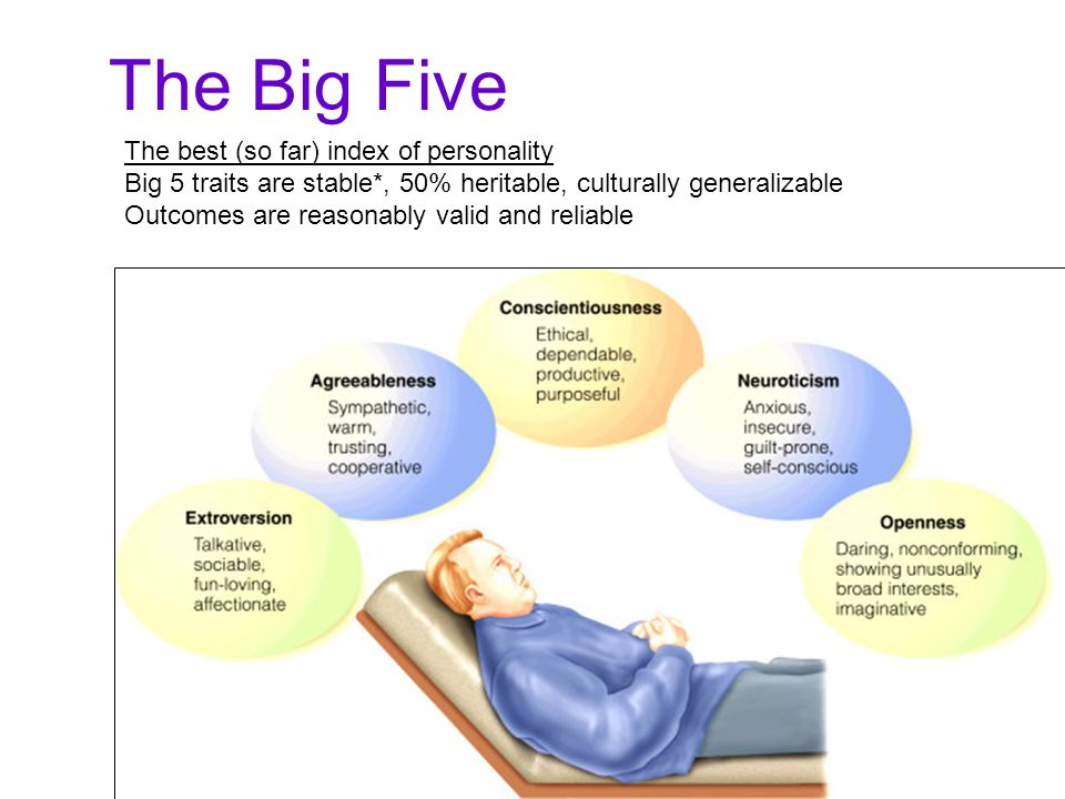 The Big Five The best (so far) index of personality