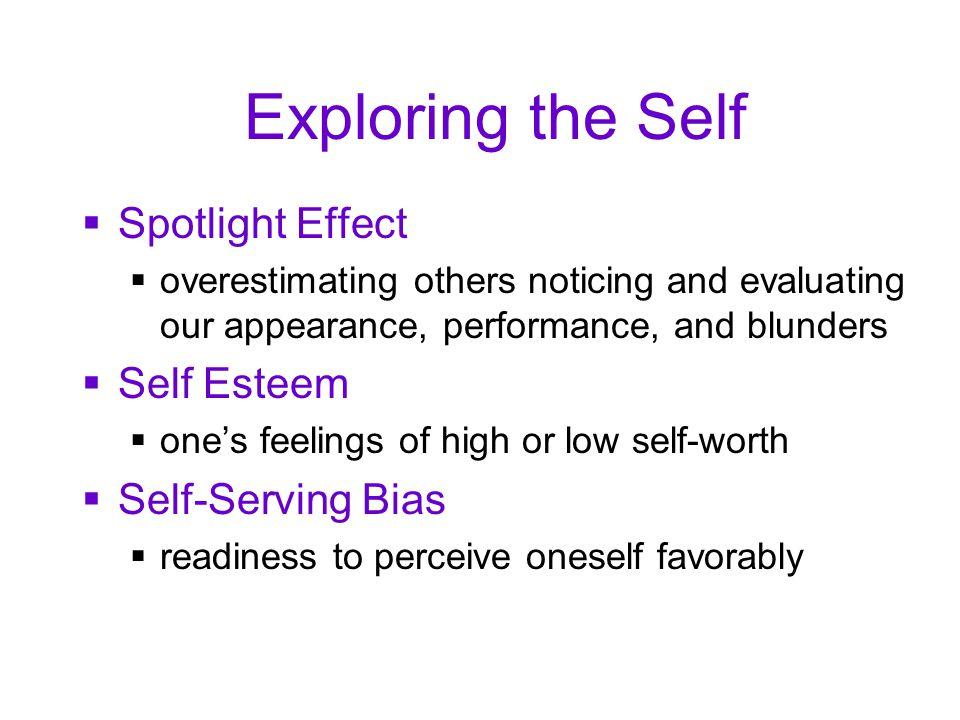 Exploring the Self Spotlight Effect Self Esteem Self-Serving Bias