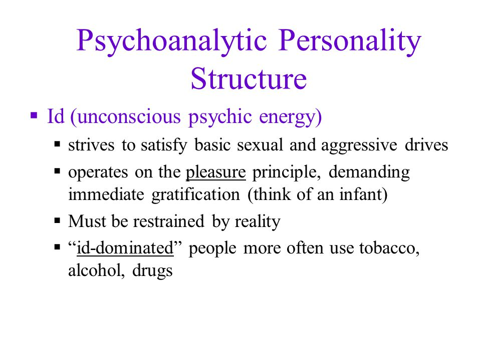 Psychoanalytic Personality Structure
