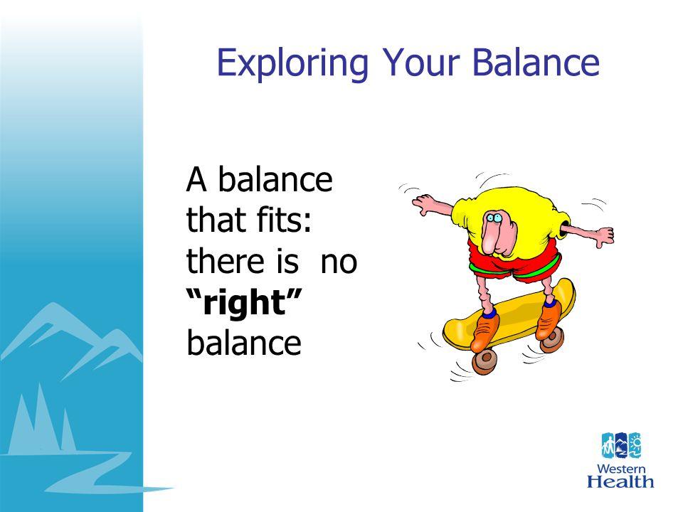 Exploring Your Balance