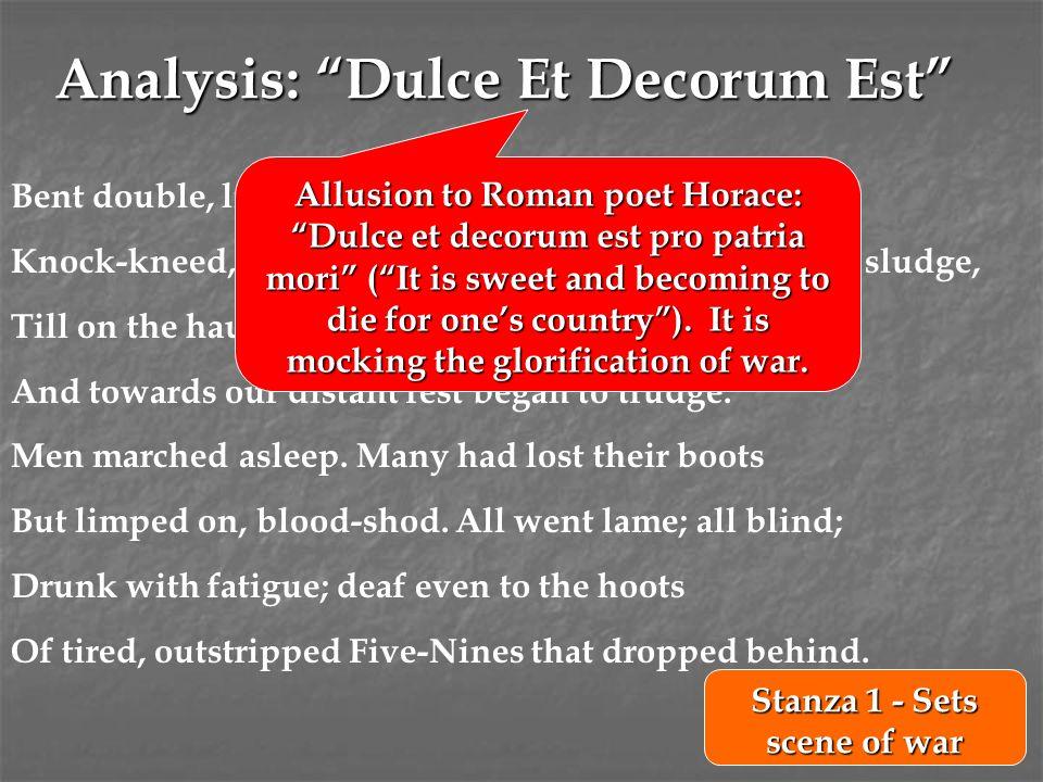 Analysis: Dulce Et Decorum Est