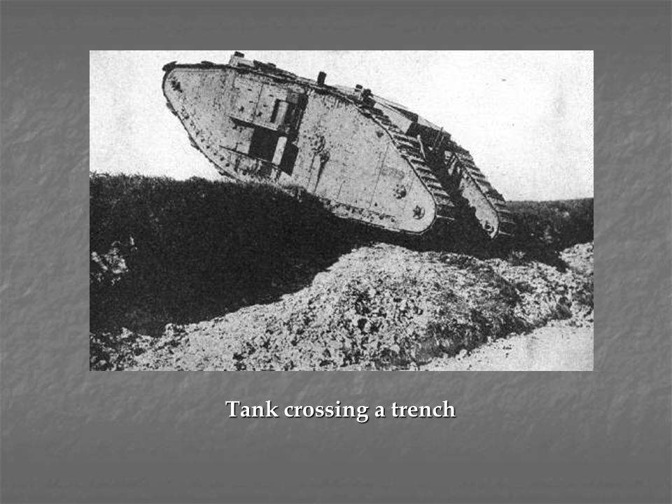 Tank crossing a trench