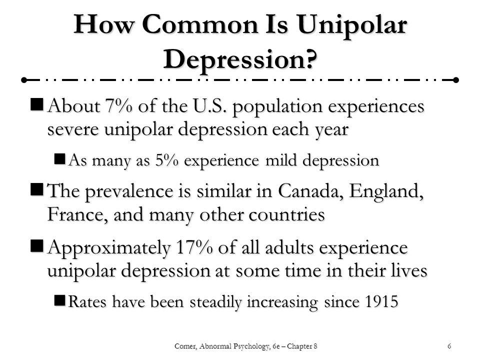 How Common Is Unipolar Depression