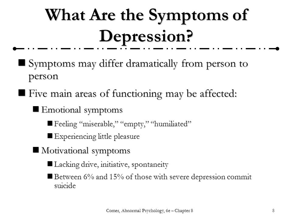 What Are the Symptoms of Depression