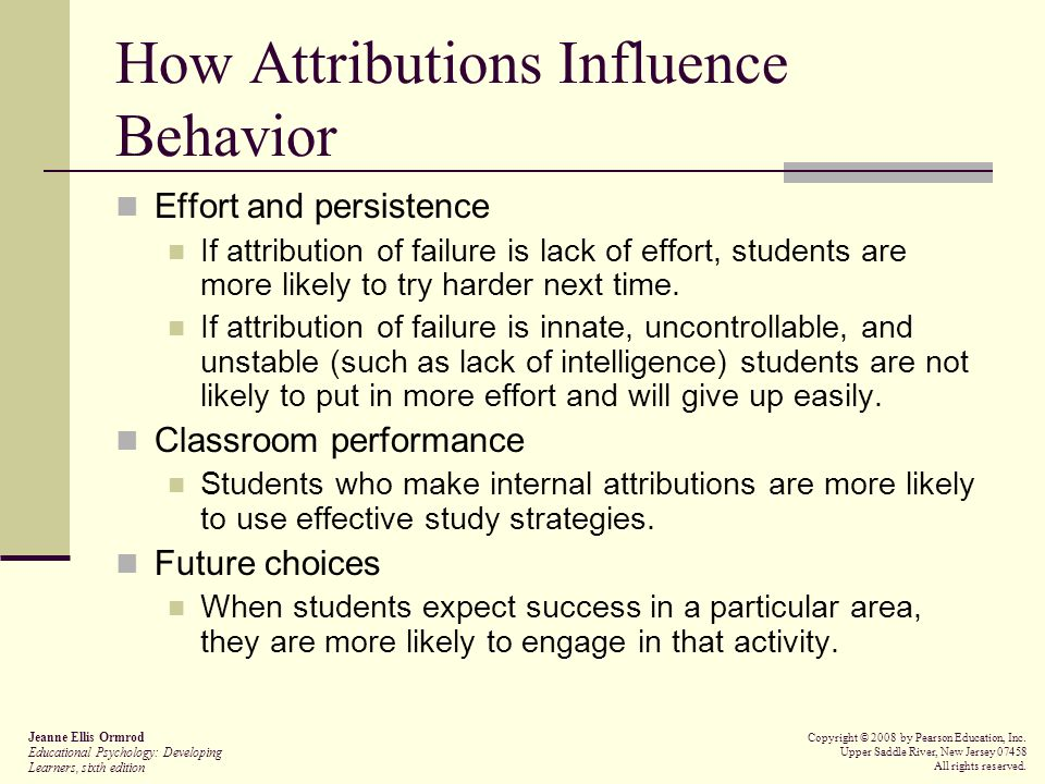 How Attributions Influence Behavior