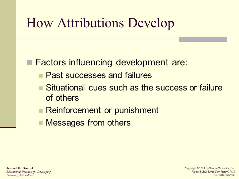 How Attributions Develop
