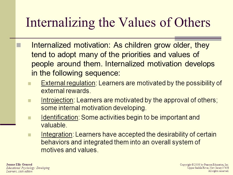 Internalizing the Values of Others