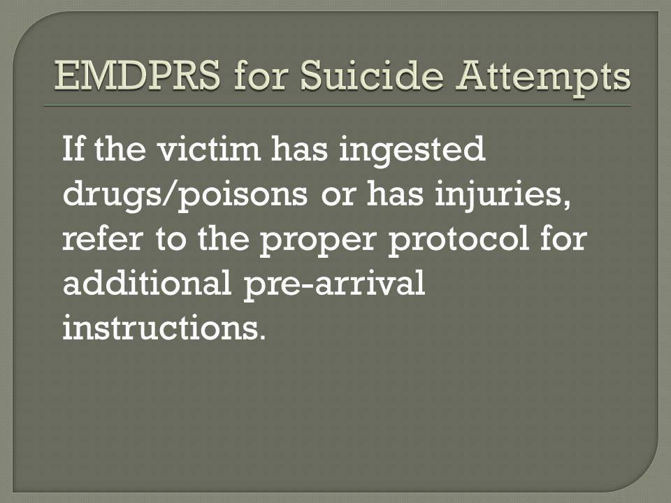 EMDPRS for Suicide Attempts