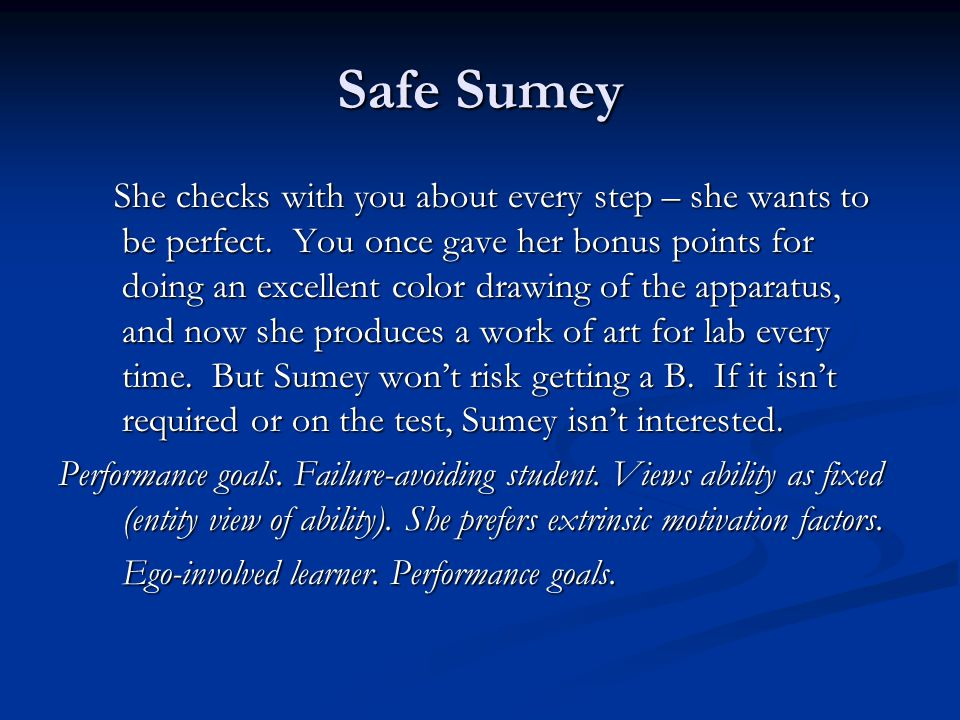 Safe Sumey