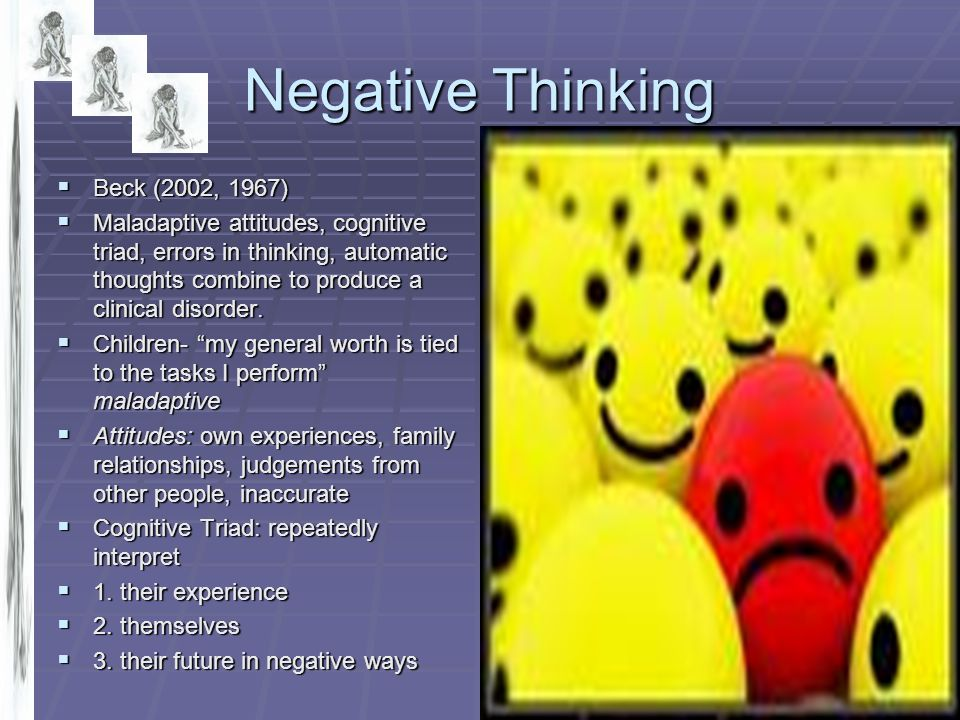 Negative Thinking Beck (2002, 1967)