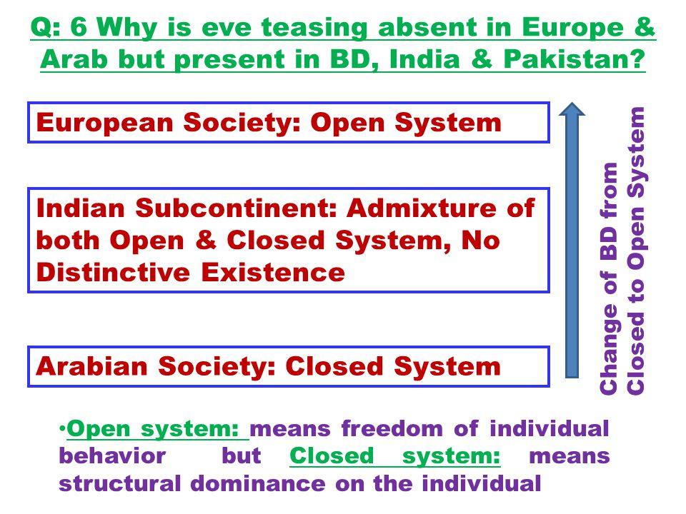 European Society: Open System
