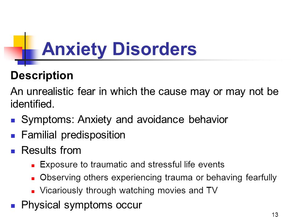 Anxiety Disorders Description