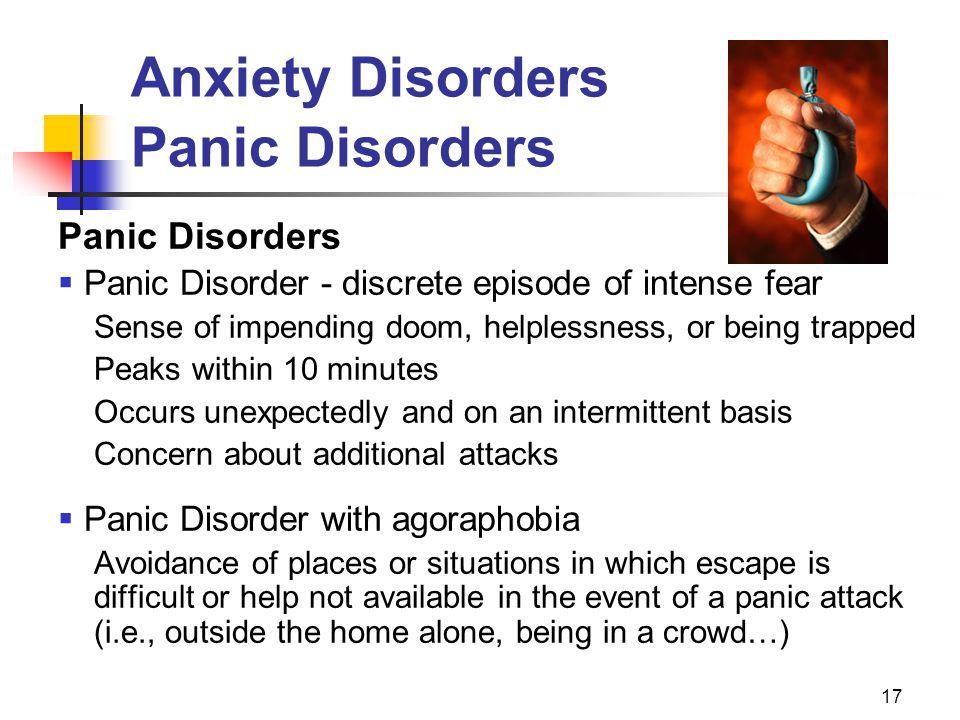 Anxiety Disorders Panic Disorders