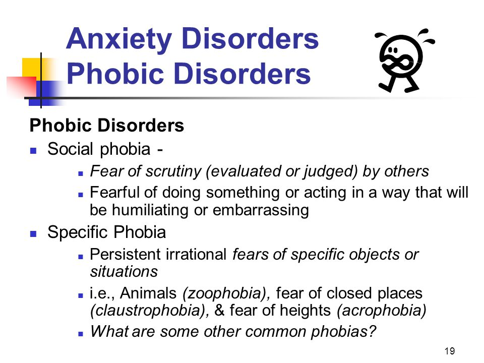 Anxiety Disorders Phobic Disorders