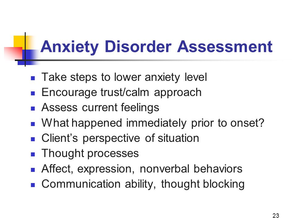 Anxiety Disorder Assessment