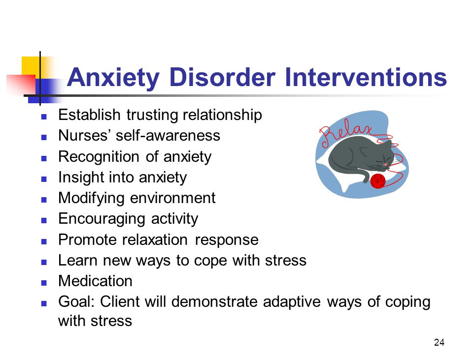 Anxiety Disorder Interventions