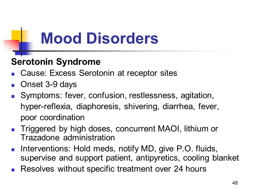 Mood Disorders Serotonin Syndrome