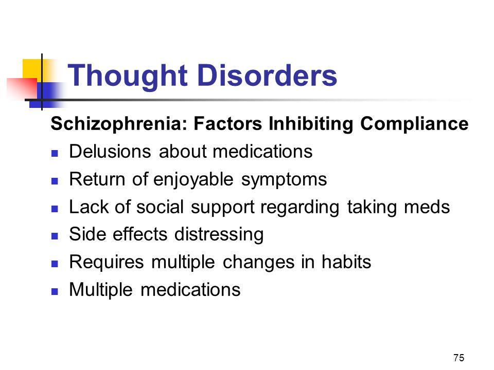 Thought Disorders Schizophrenia: Factors Inhibiting Compliance