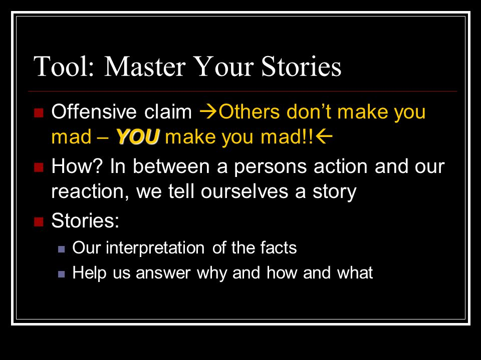 Tool: Master Your Stories