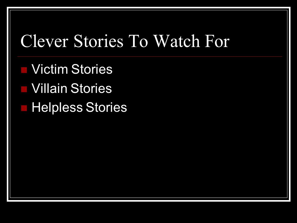 Clever Stories To Watch For