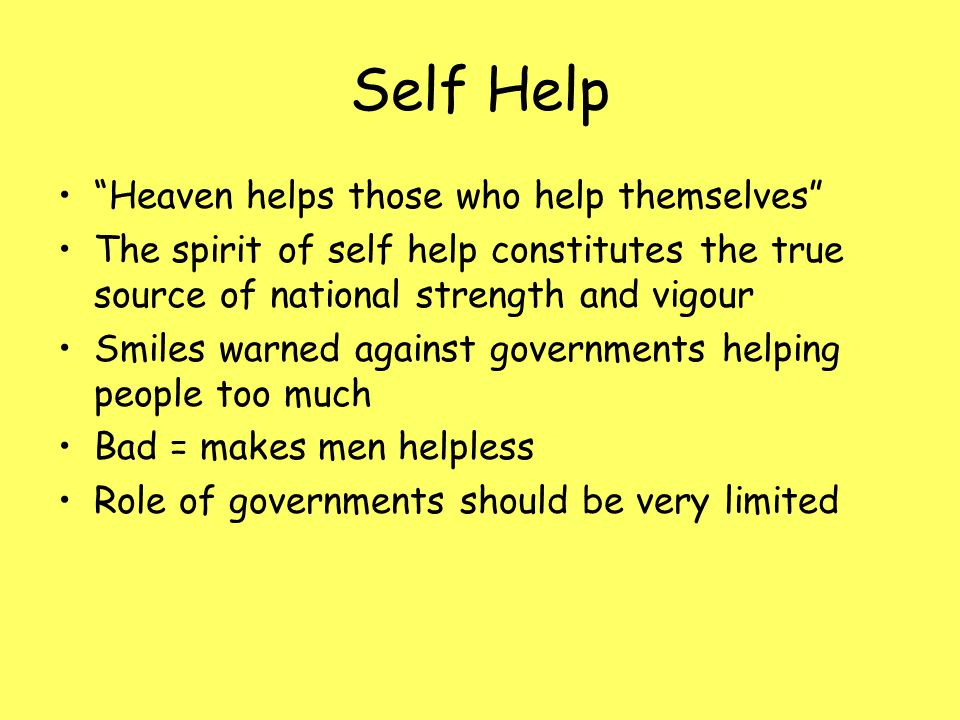 Self Help Heaven helps those who help themselves