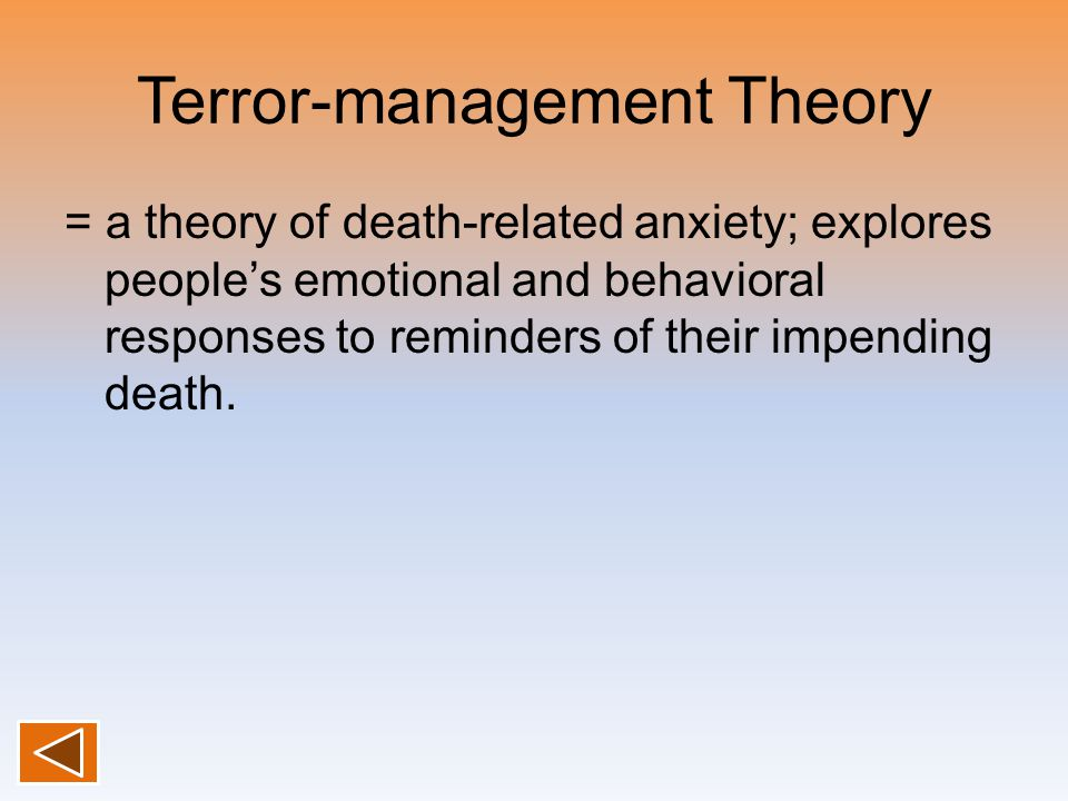 Terror-management Theory