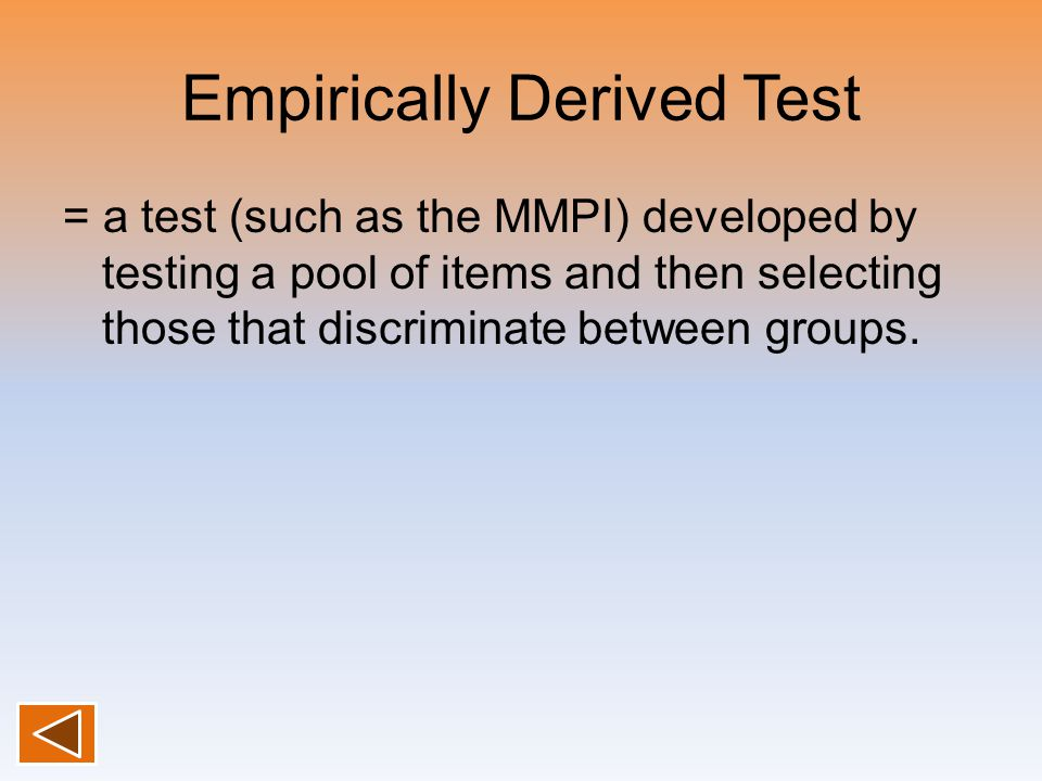 Empirically Derived Test