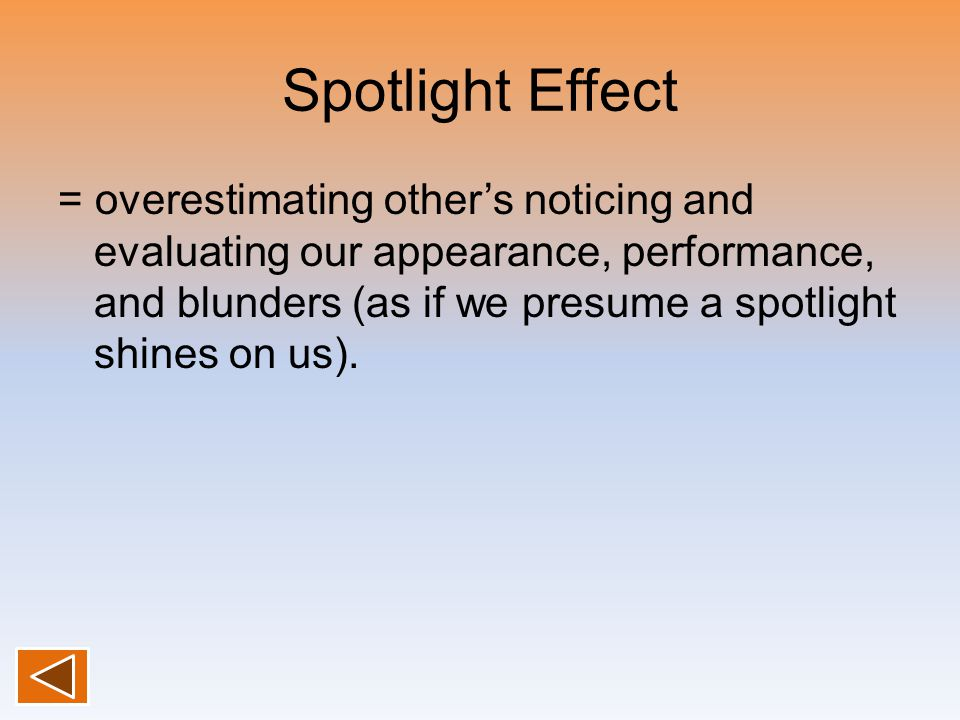 Spotlight Effect