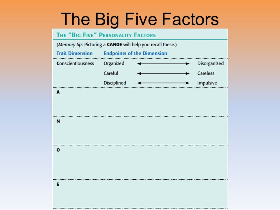 The Big Five Factors