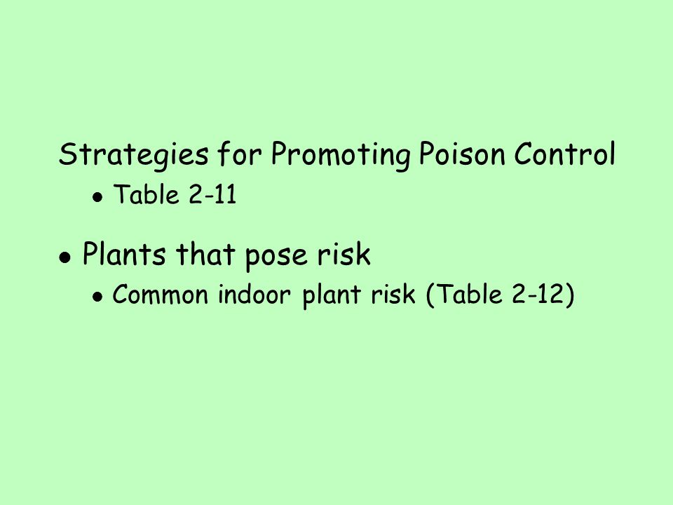 Strategies for Promoting Poison Control