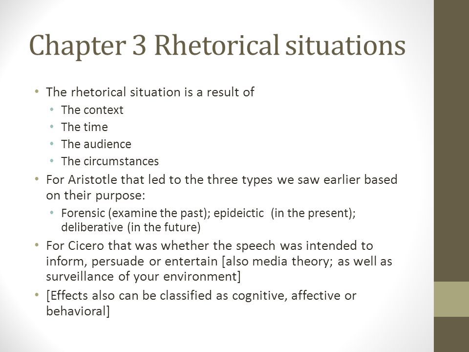 Chapter 3 Rhetorical situations