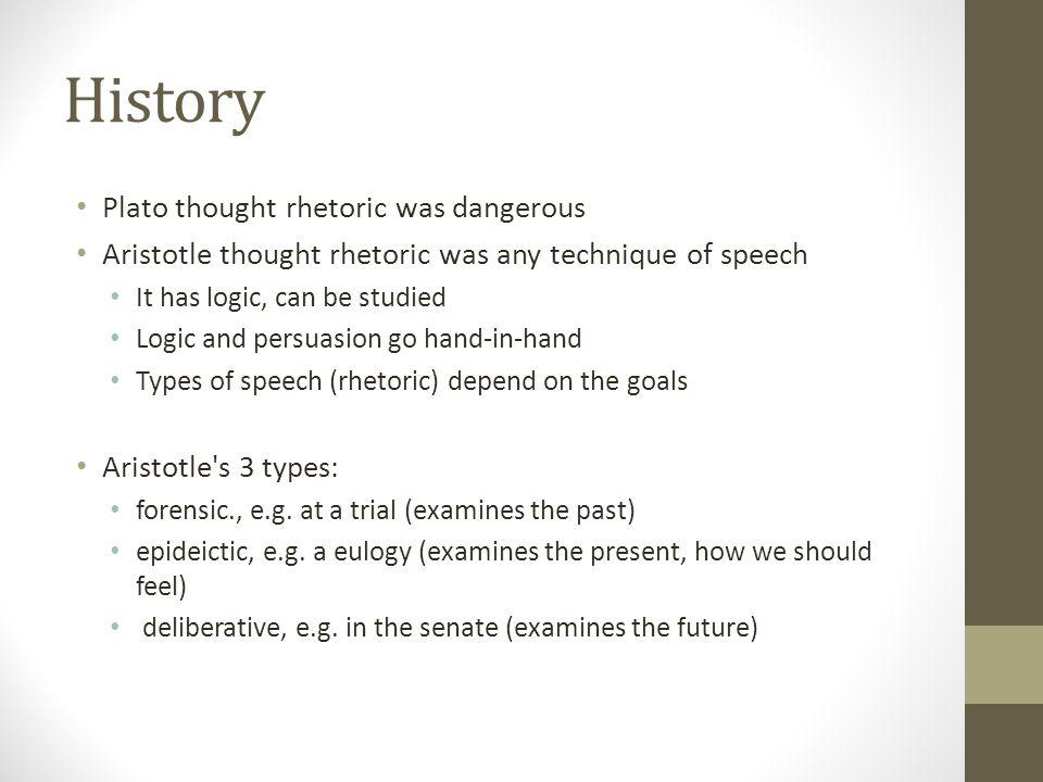 History Plato thought rhetoric was dangerous
