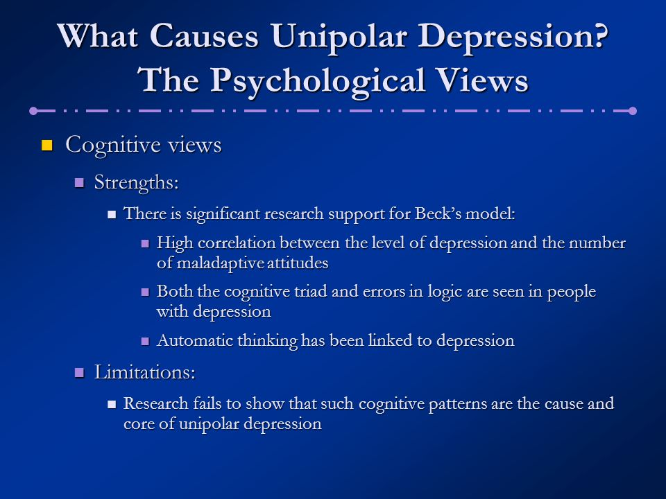 an overview of the psychological research of the depression problem Overview & causes do you suffer with depression maybe you've recently been diagnosed or are a caregiver to someone with depression learn more about this common mood disorder, including depression causes, risk factors, and prevention.