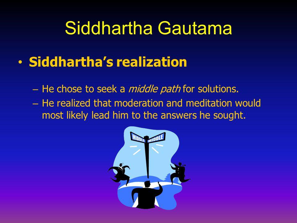 Siddhartha Gautama Siddhartha's realization