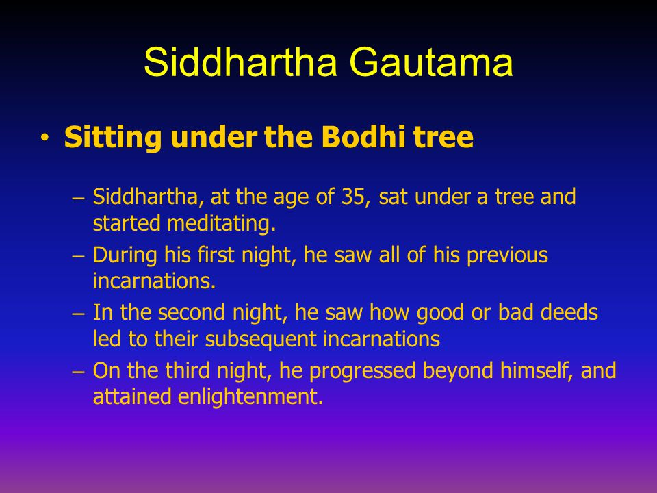 Siddhartha Gautama Sitting under the Bodhi tree