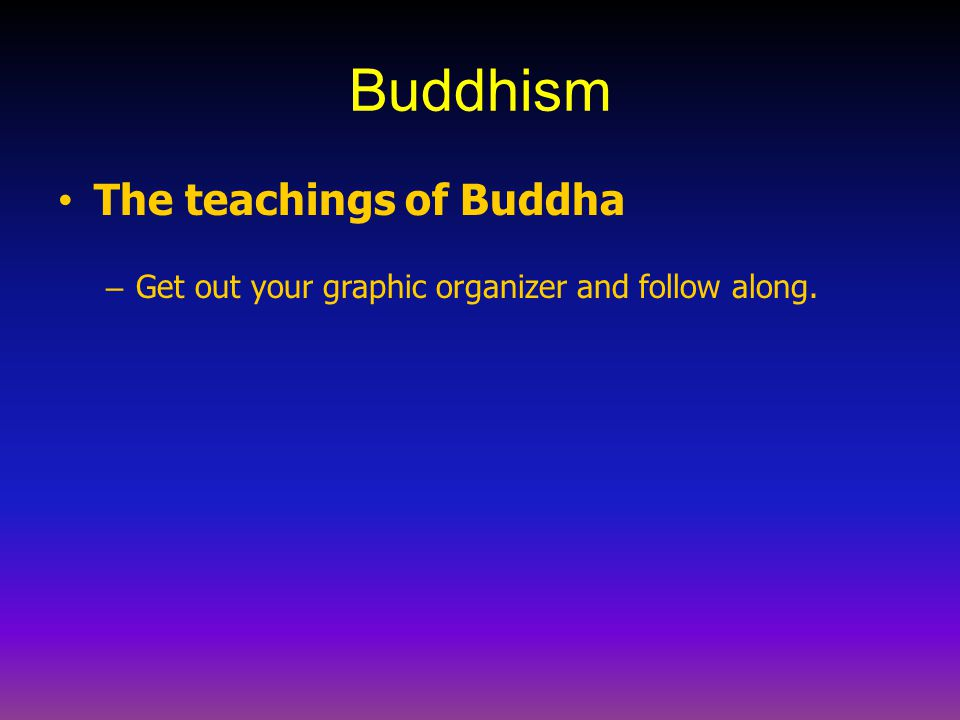 Buddhism The teachings of Buddha
