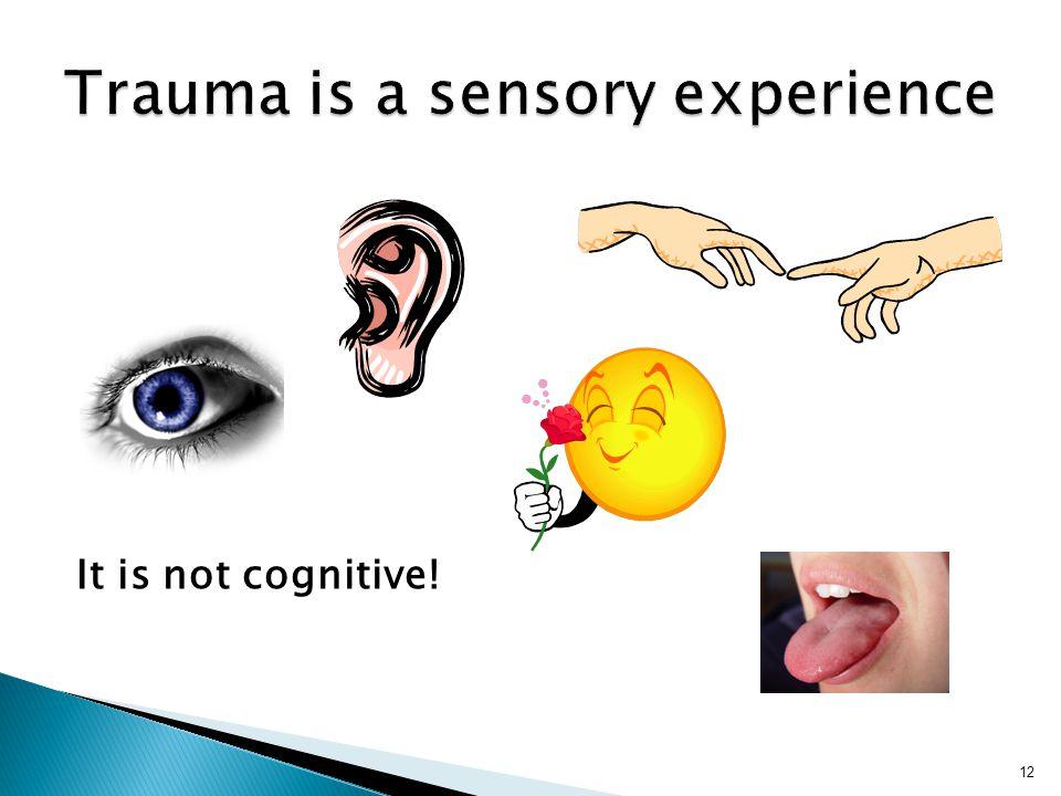 Trauma is a sensory experience