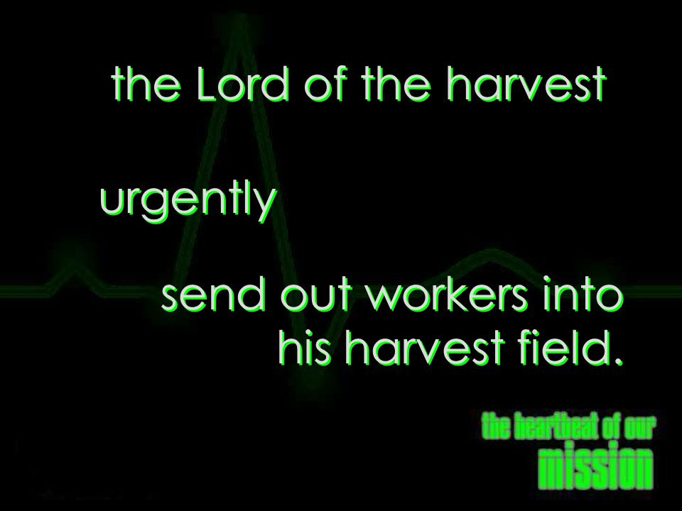 send out workers into his harvest field.